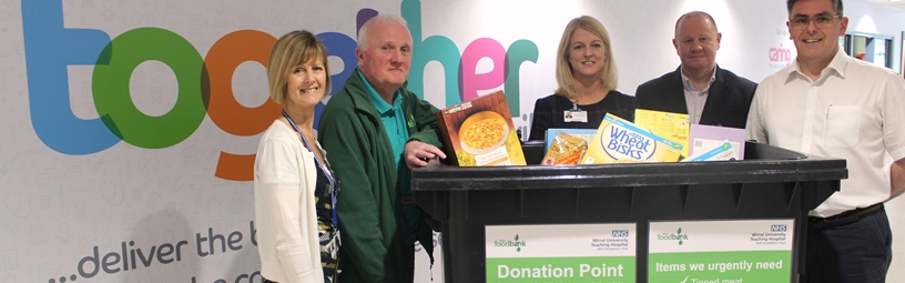 Hospital food donation points for Wirral Foodbank